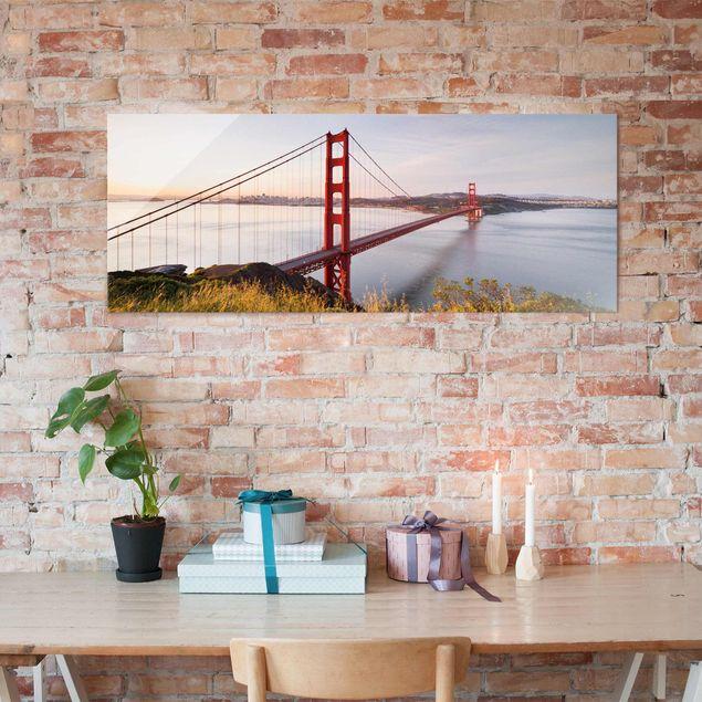 Glasbild - Golden Gate Bridge in San Francisco - Panorama Quer