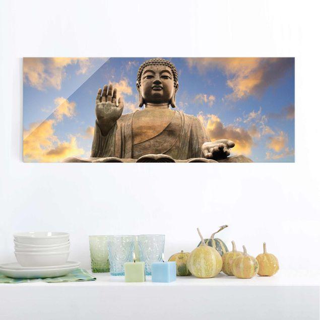 Glasbild - Großer Buddha - Panorama Quer