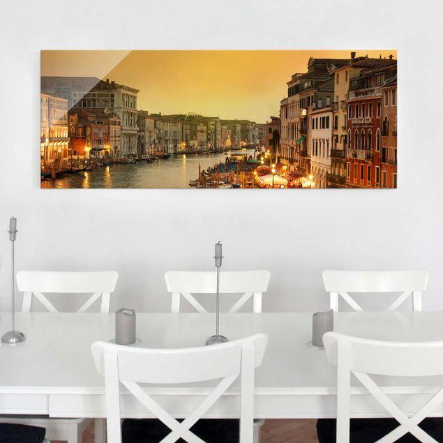 Glasbild - Großer Kanal von Venedig - Panorama Quer