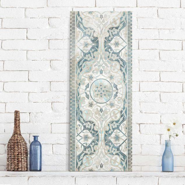 Glasbild - Holzpaneel Persisch Vintage I - Panel