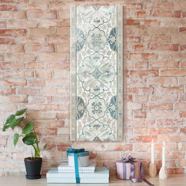 Glasbild - Holzpaneel Persisch Vintage II - Panel