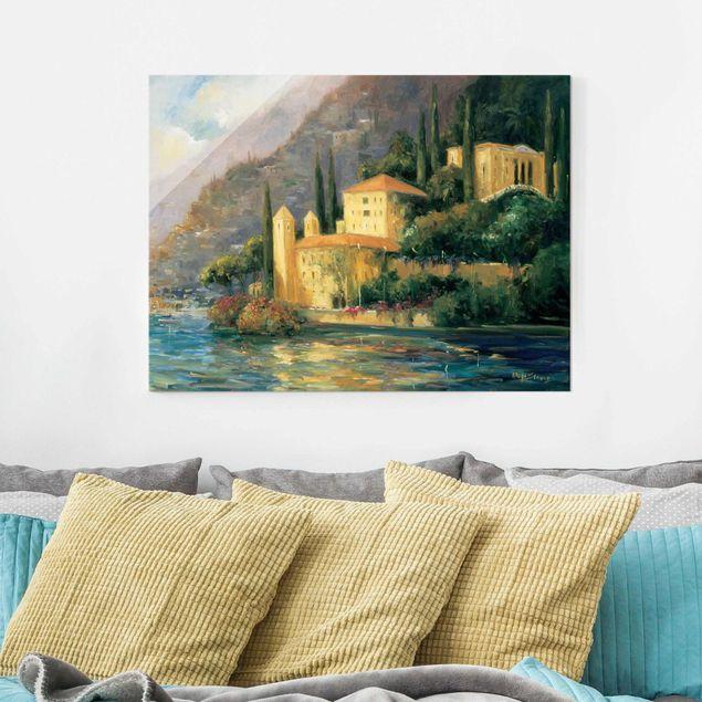 Glasbild - Italienische Landschaft - Landhaus - Querformat 3:4