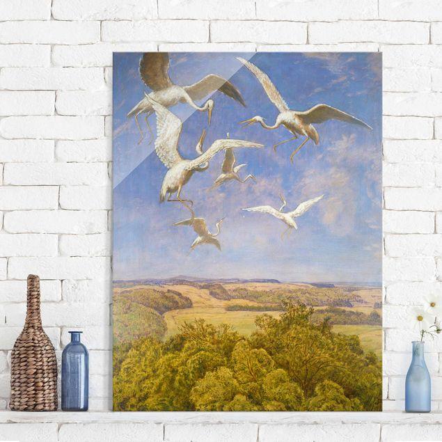 Glasbild - Kunstdruck Hans Thoma - Wonne des Fliegens - Hoch 3:4