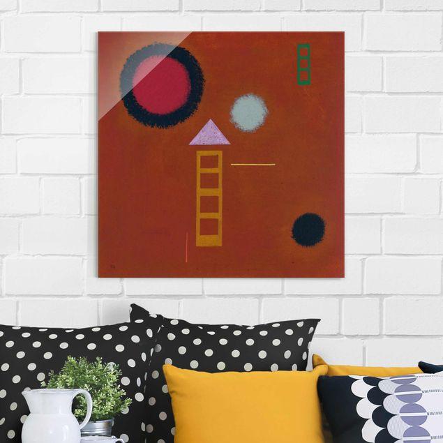 Glasbild - Kunstdruck Wassily Kandinsky - Beruhigt - Expressionismus Quadrat 1:1