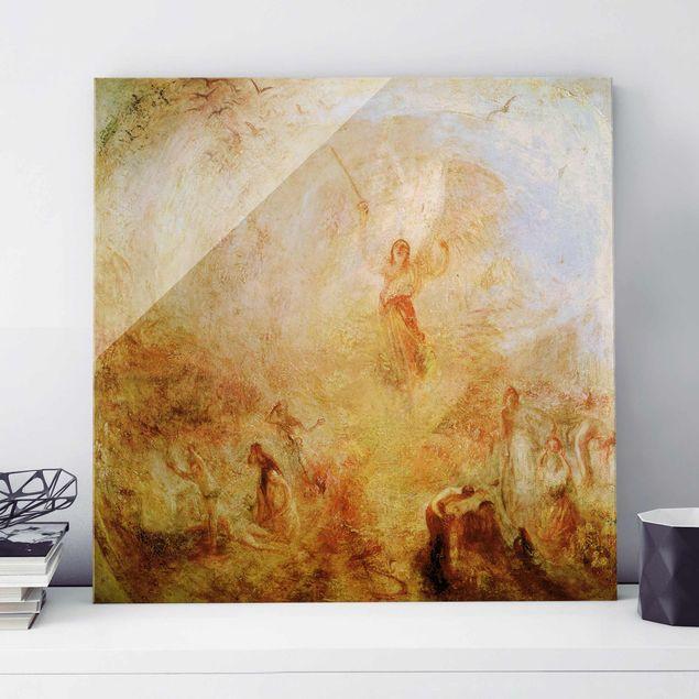 Glasbild - Kunstdruck William Turner - Der Engel vor der Sonne - Romantik Quadrat 1:1