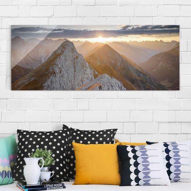 Glasbild - Lechtaler Alpen - Panorama