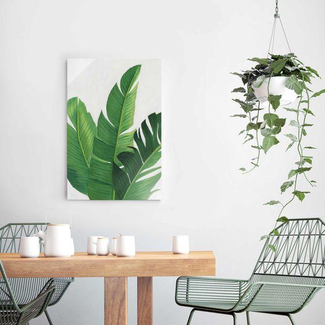 Glasbild - Lieblingspflanzen - Banane - Hochformat 3:2