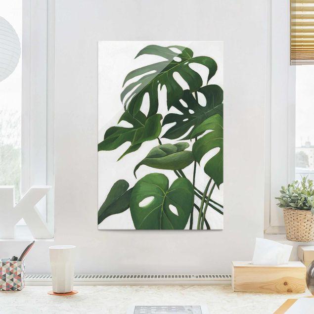 Glasbild - Lieblingspflanzen - Monstera - Hochformat 3:2