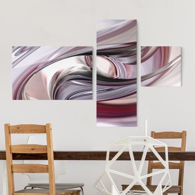 Glasbild mehrteilig - Illusionary 3-teilig