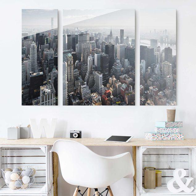 Glasbild mehrteilig - Upper Manhattan New York City - 3-teilig