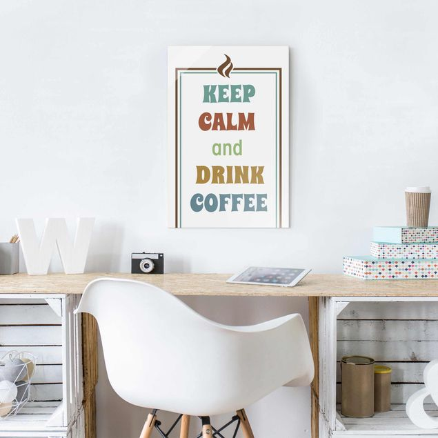 Glasbild - No.RS185 Drink Coffee - Hoch 2:3