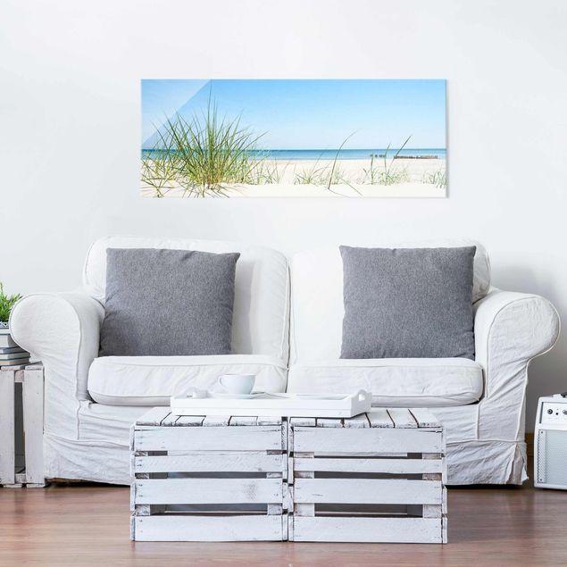 Glasbild - Ostseeküste - Panorama Quer