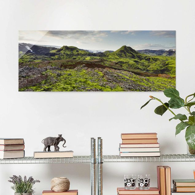 Glasbild - Rjupnafell Island - Panorama