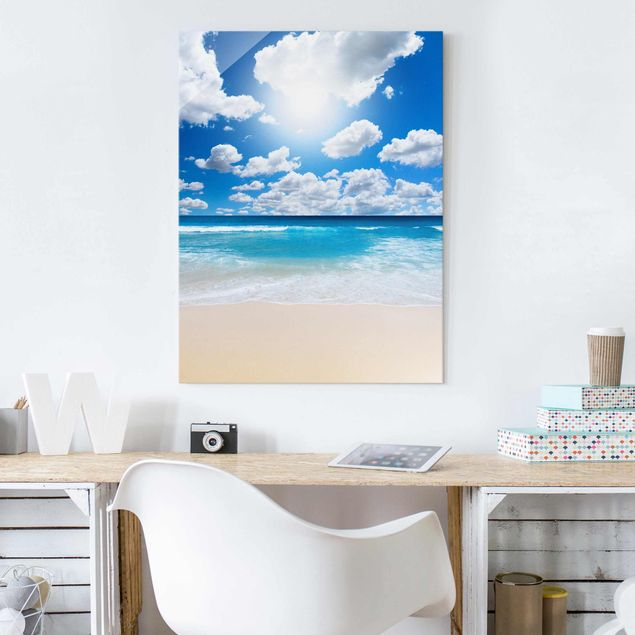 Glasbild - Touch of paradise - Hoch 3:4