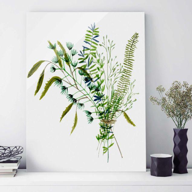 Glasbild - Wiesengräser I - Hochformat 4:3