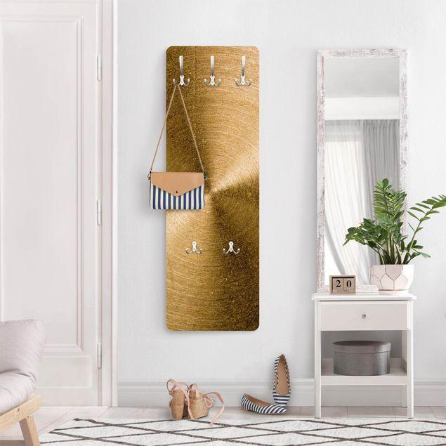 Garderobe - Goldener Kreis gebürstet