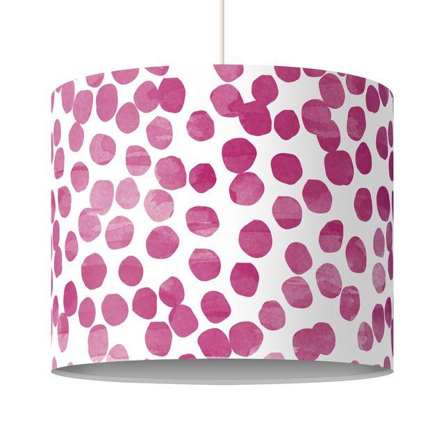 Hängelampe - Punktemuster Pink Lila