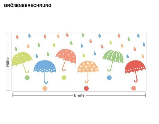 Haken-Wandsticker Regenschirmchen