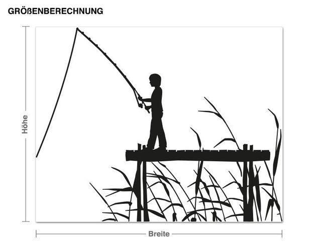 Haken-Wandtattoo Angler