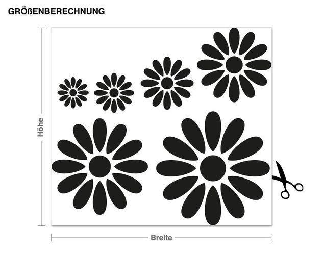 Haken-Wandtattoo Blumen