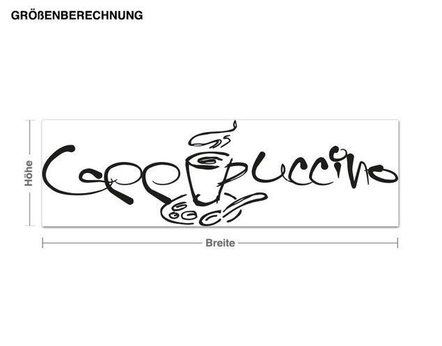 Haken-Wandtattoo Cappuccino