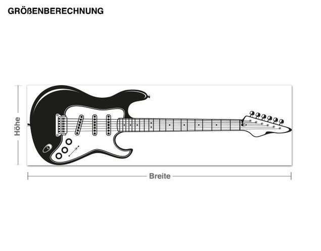 Haken-Wandtattoo E-Gitarre
