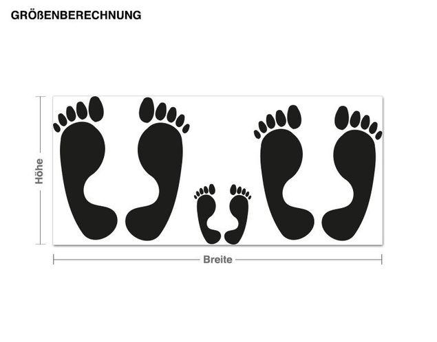 Haken-Wandtattoo Füße