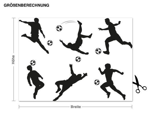 Haken-Wandtattoo Fußballer