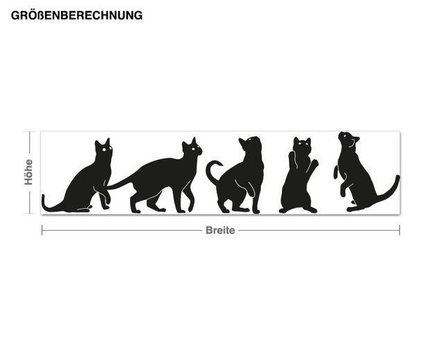 Haken-Wandtattoo Katzen
