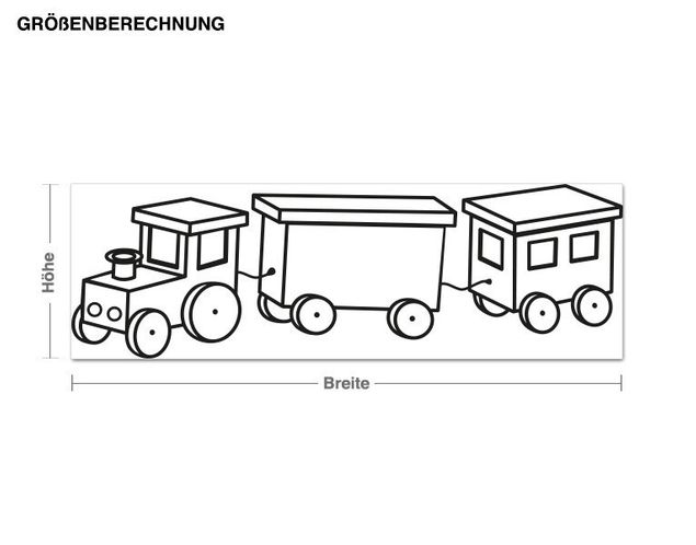 Haken-Wandtattoo Lokomotive