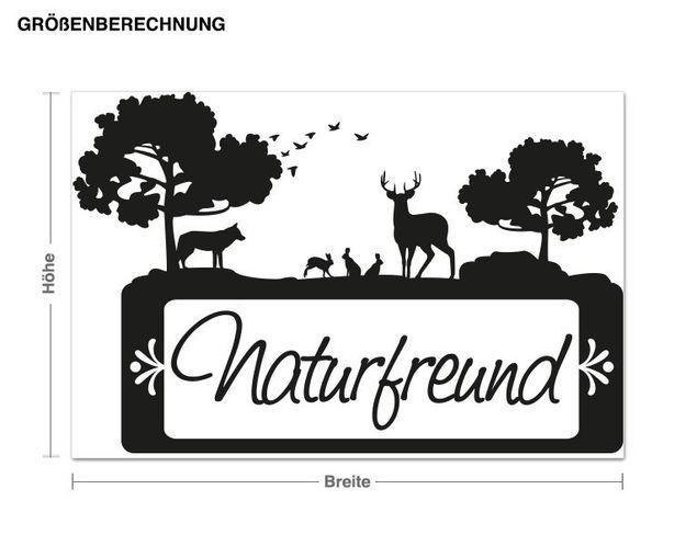 Haken-Wandtattoo Naturfreund