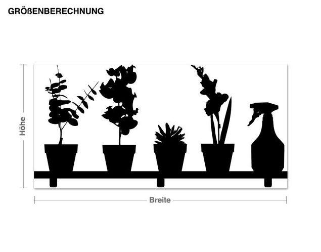 Haken-Wandtattoo Pflanzenregal