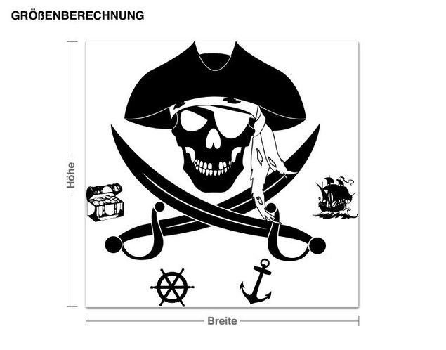 Haken-Wandtattoo Pirat