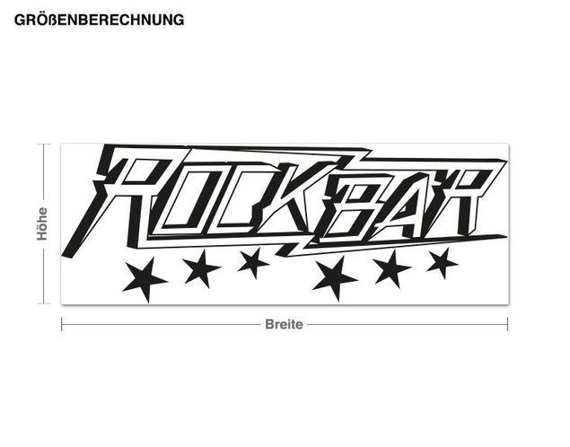 Haken-Wandtattoo Rockbar