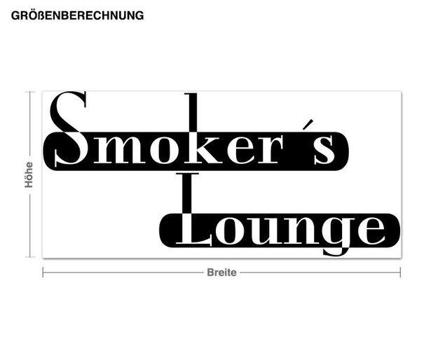 Haken-Wandtattoo Smoker Lounge