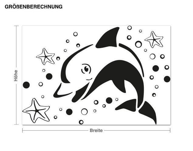 Haken-Wandtattoo Springender Delphin