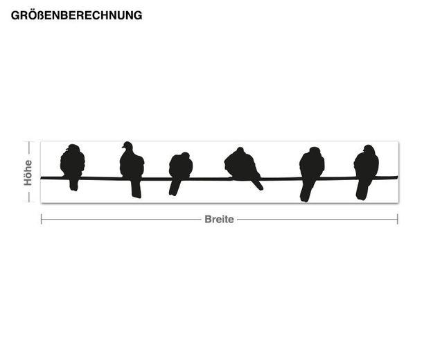 Haken-Wandtattoo Vogelstange