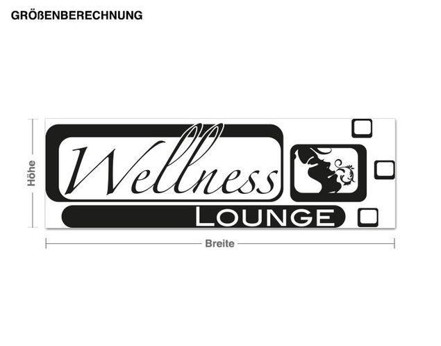 Haken-Wandtattoo Wellness Lounge