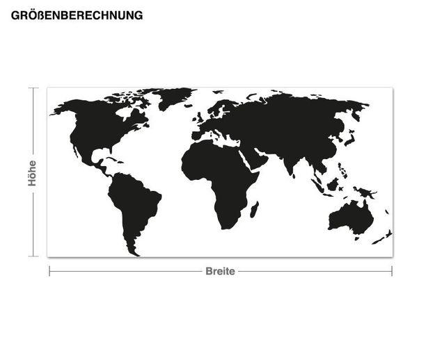 Haken-Wandtattoo Weltkarte