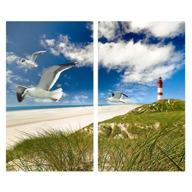 Herdabdeckplatte Glas - Dune Breeze