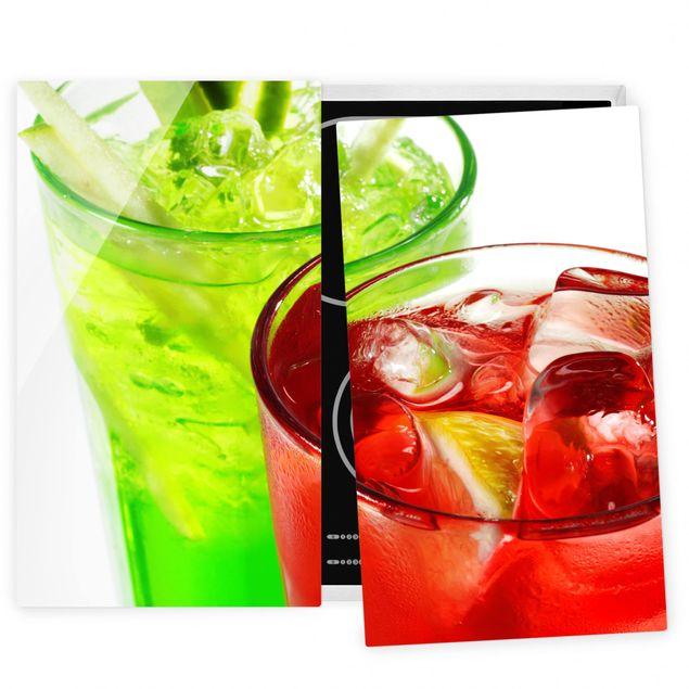 Herdabdeckplatte Glas - Fresh Cocktails
