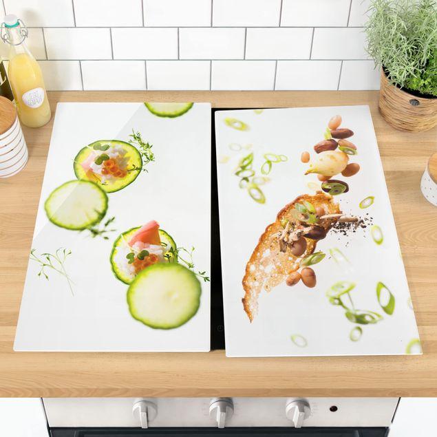 Herdabdeckplatte Glas - Frische Küche
