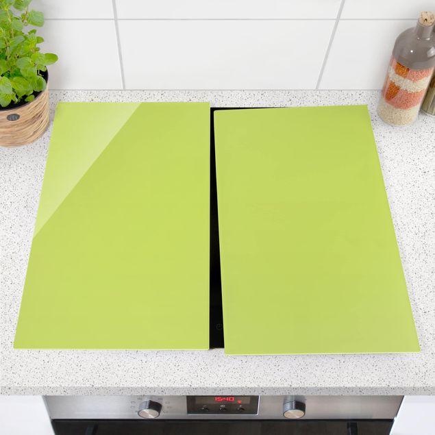 Herdabdeckplatte Glas - Frühlingsgrün