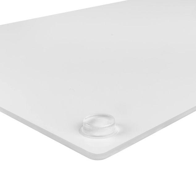 Herdabdeckplatte Glas - Mediterranes Fliesenmuster Graustufen