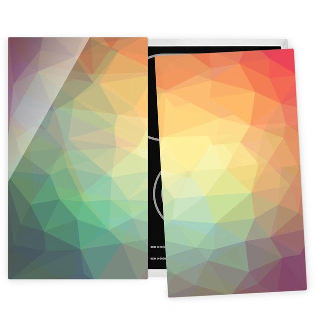 Herdabdeckplatte Glas - Triangular