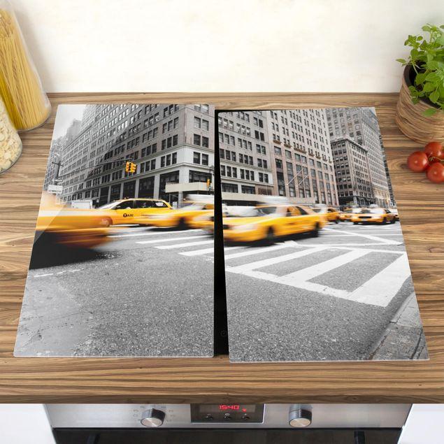 Herdabdeckplatte Glas - Rasantes New York
