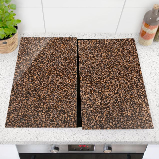 Herdabdeckplatte Glas - Sea of Coffee
