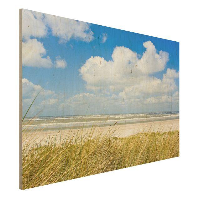Holzbild Strand - An der Nordseeküste - Quer 3:2