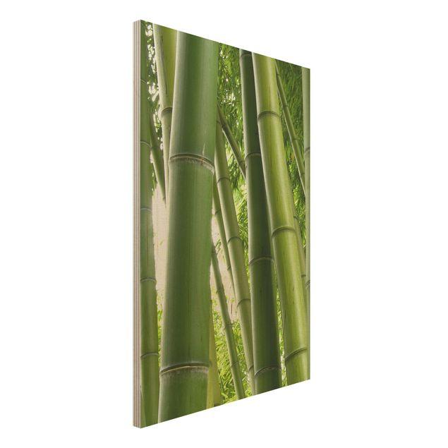 Holzbild - Bamboo Trees No.1 - Hoch 2:3