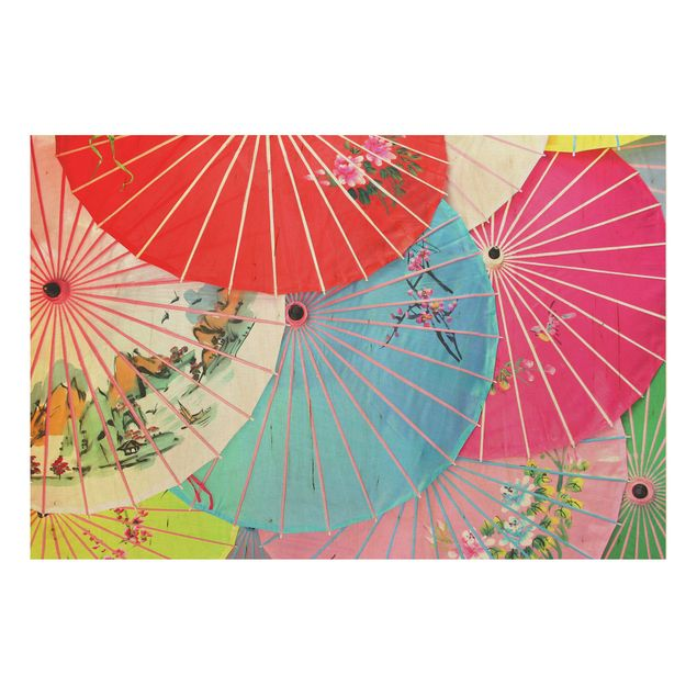 Holzbild - Chinese Parasols - Quer 3:2